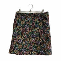 antique flower mini skirt