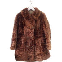 lamb fur coat blown