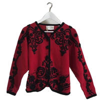 design flower cardigan