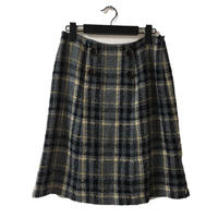 ELLE tweed check design skirt