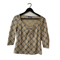 Burberry check knit tops(No.3248)