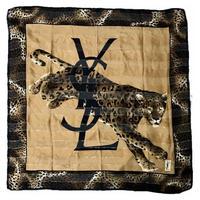 YSL logo reopard skarf