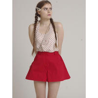 flare design short pants red