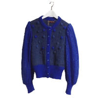 YSL arm volume dot knit cardigan
