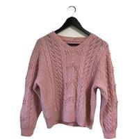 pon pon design vintage knit pink