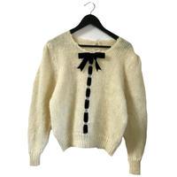 mohair velours ribbon knit