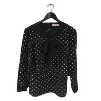 YSL dot blouse black