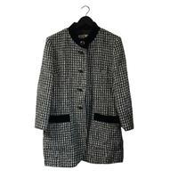 wool tweed velour coat