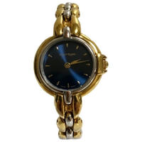 courreges gold chain Watch navy