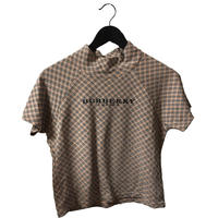 Burberry check logo design tops