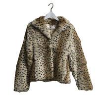 leopard real rabbit fur coat