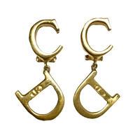 Dior gold CD logo earring