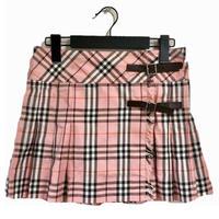 burberry check pleats mini skirt(No.2982)
