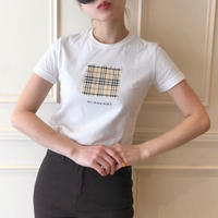 burberry check  tee white (No.4344)