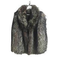 real fox fur coat mix