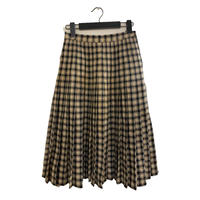 GIVENCHY check design pleats skirt(No.3893)