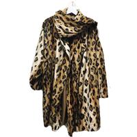vintage NORMA KAMALI leopard gown fur coat