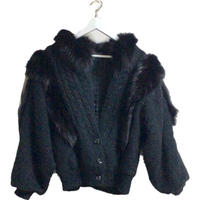 fur knit coat