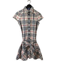 Burberry  ribon belt frill one-piece