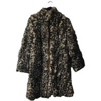 leopard long fur coat