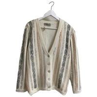 bijou line design knit cardigan