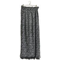double monotone flower pleats skirt
