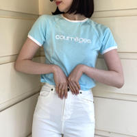 courreges piping blue tee(No.3684)