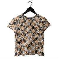 Burberry check design tee(No.3058)