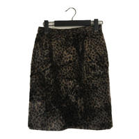 leopard fur skirt dark blown