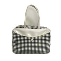 courreges gingham check enamel bag
