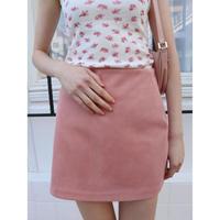 suède mini skirt pink