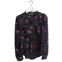 shoulder volume flower blouse