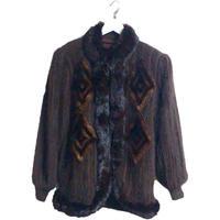 fur knit design coat blown
