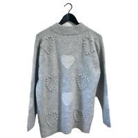 vintage Heart design knit