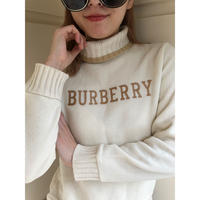 Burberry logo high neck knit(No.)