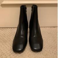 square toe khitōn heal short boots black