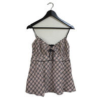 Burberry  check design camisole pink