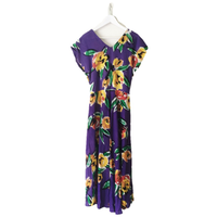 Vneck flower one-piece