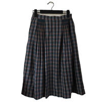 Christian Dior check design tuck skirt