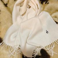 é embroidery logo wool muffler vanilla