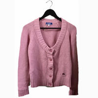 burberry knit cardigan pink