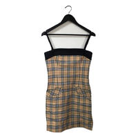 Burberry check design one-piece