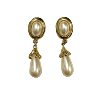 pearl drop  vintage earring (No.4221)