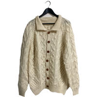 【スペシャルプライス】design cable knit cardigan ivory