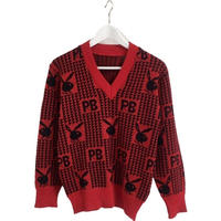 play boy red knit