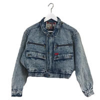 right blue design denim jacket