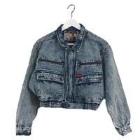 right blue design denim jacket