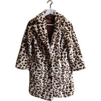 white leopard fur coat