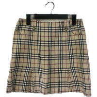 Burberry check mini skirt