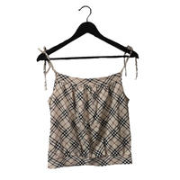 Burberry check design ribbon camisole